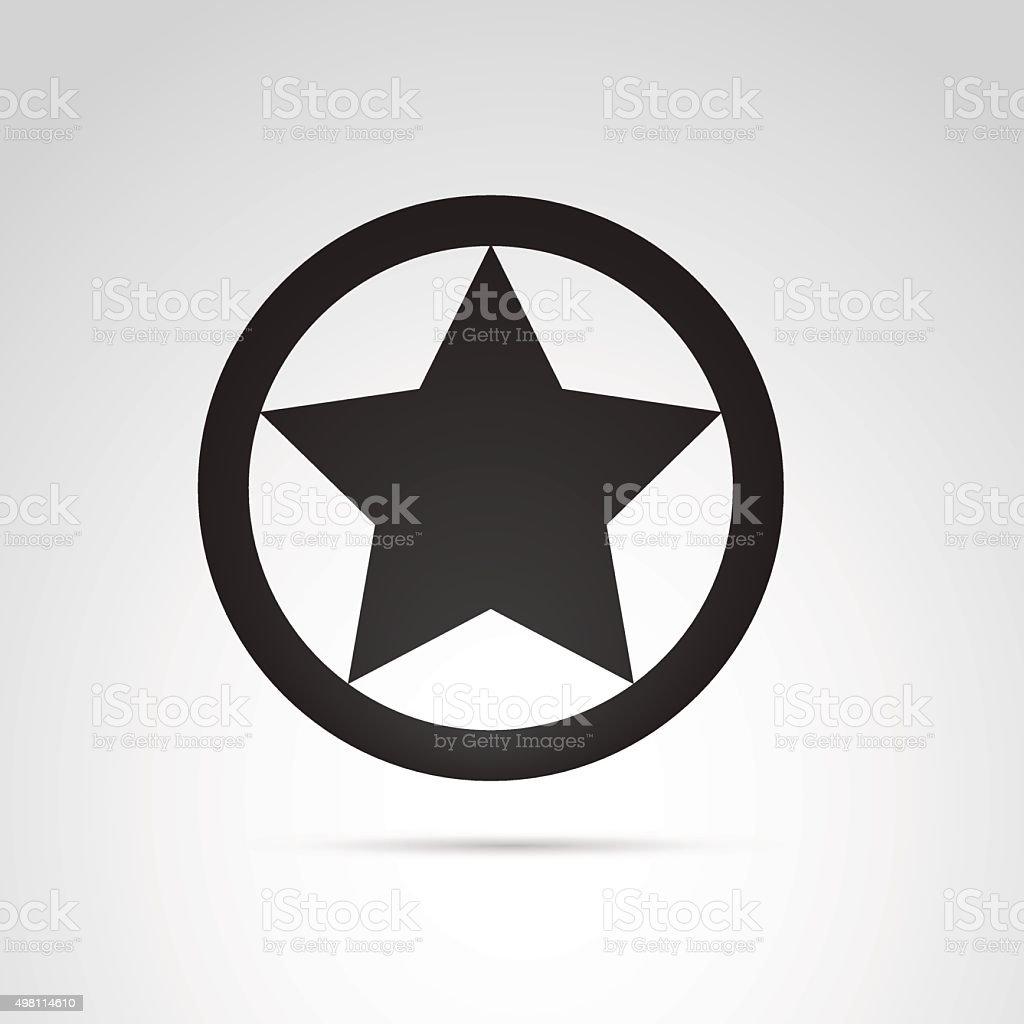 Star in circle icon. vector art illustration