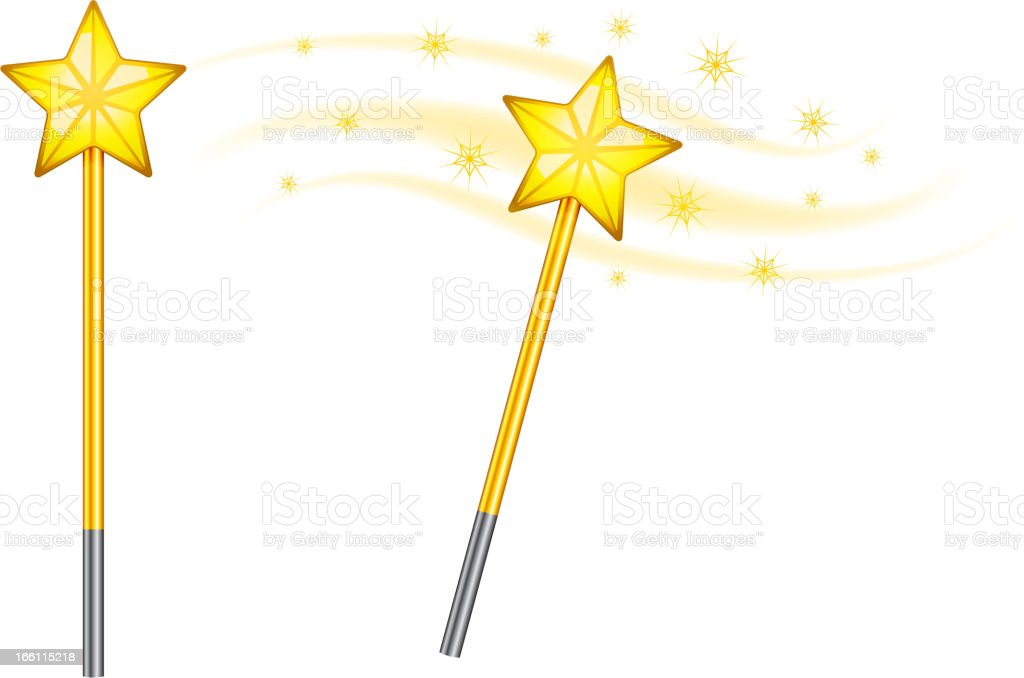 Star magic wand royalty-free stock vector art