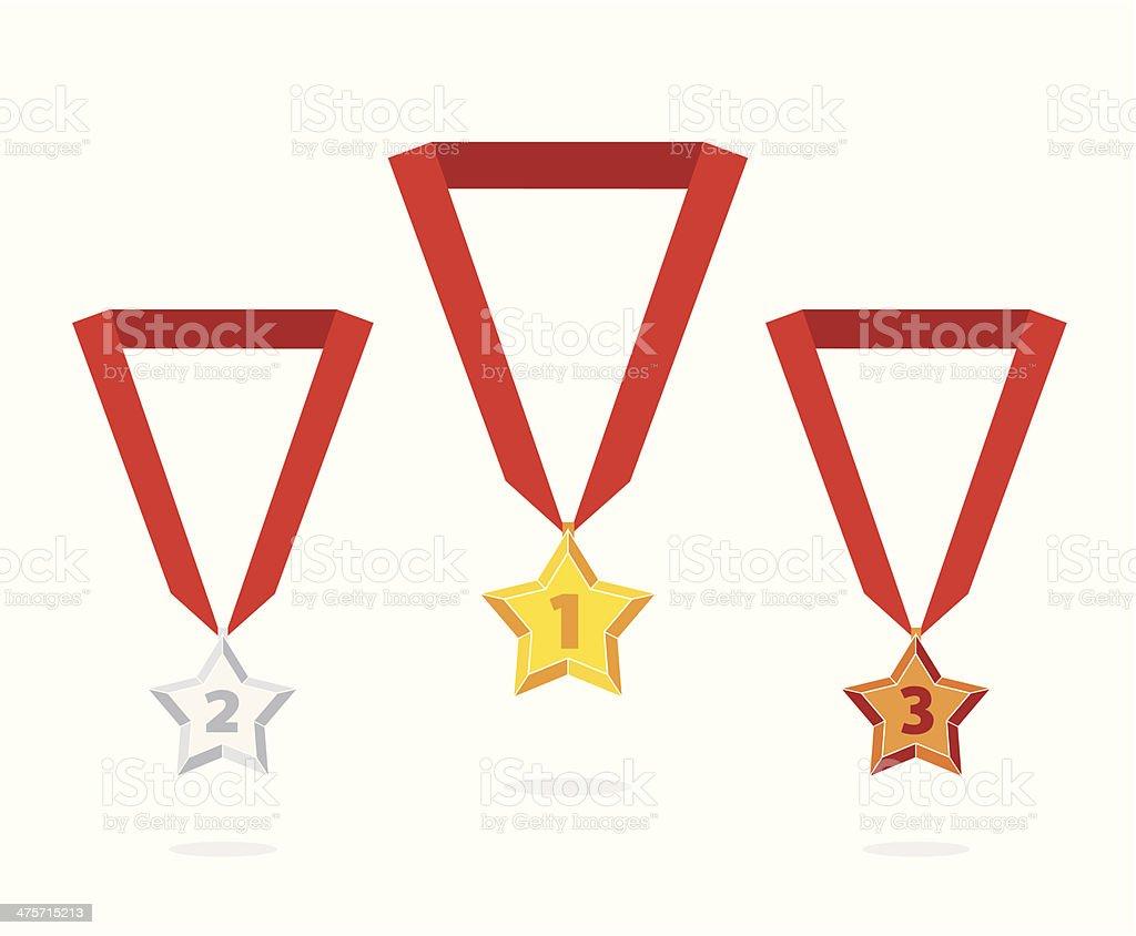 Star medal royalty-free stock vector art