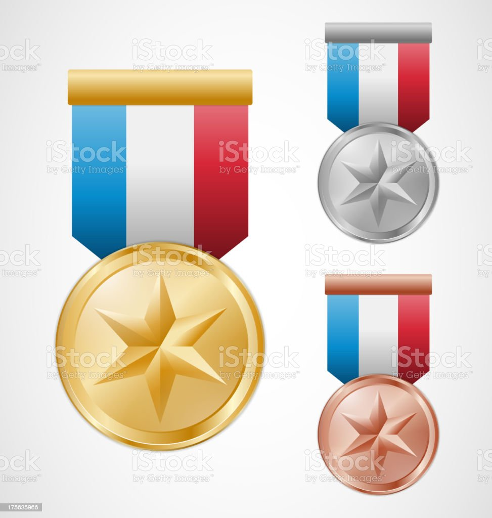 Star medals royalty-free stock vector art