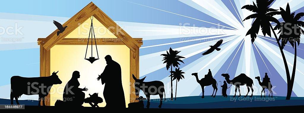 Star of Bethlehem. vector art illustration
