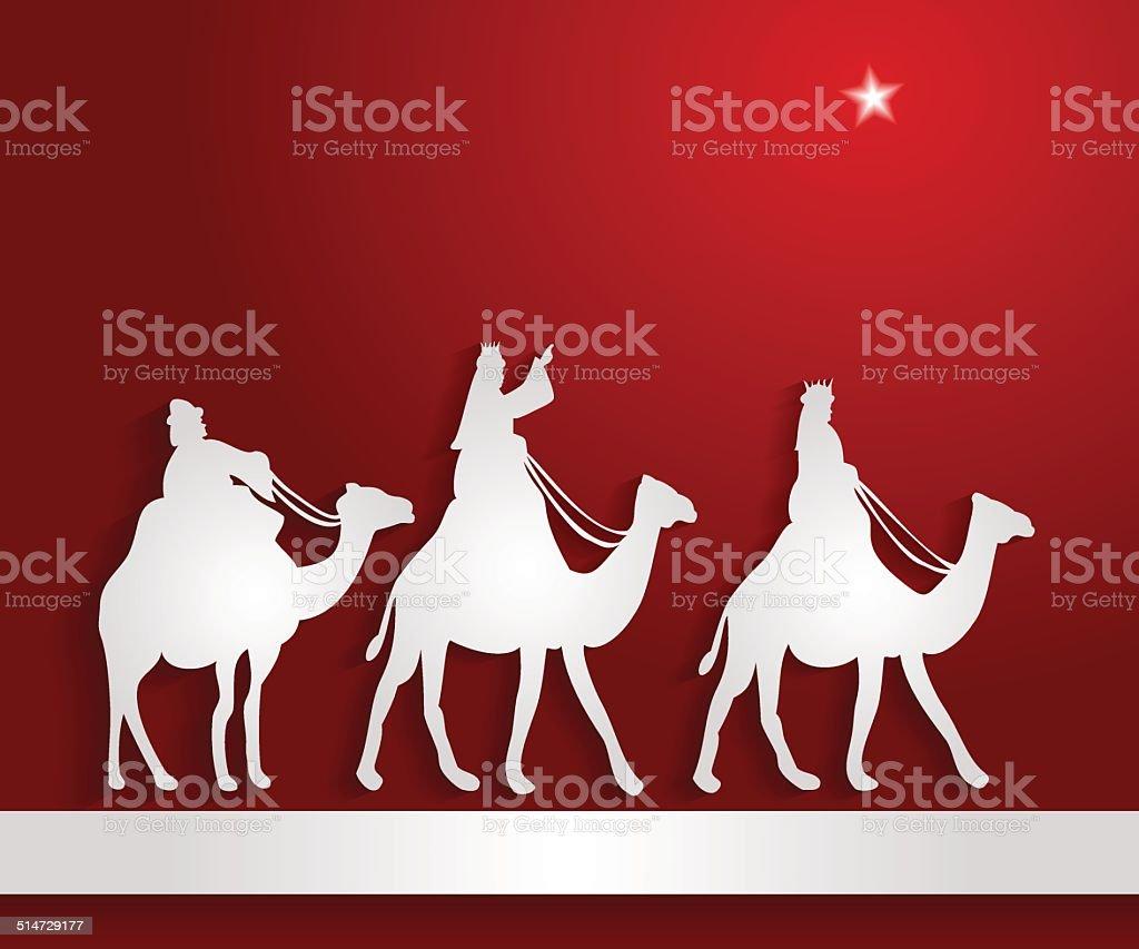 Star of Bethlehem vector art illustration