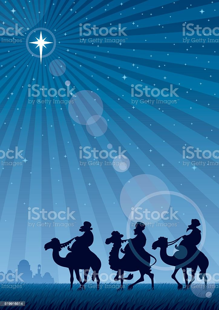 Star of Bethlehem vector art illustration