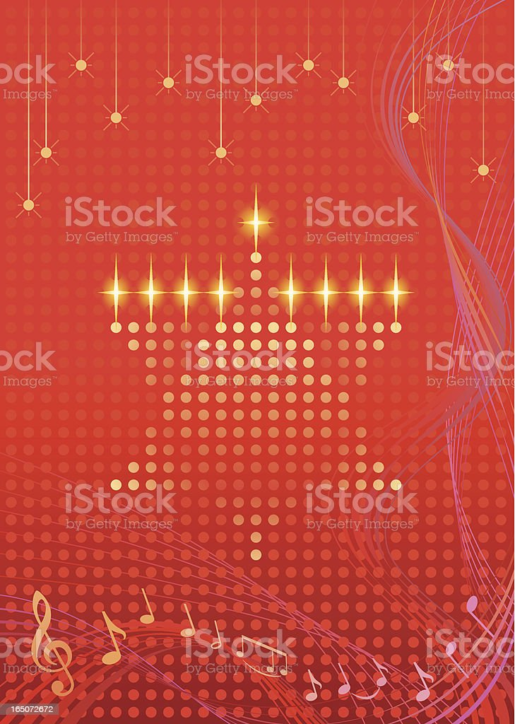 Star of David Hanukkah Card Vector royalty-free stock vector art