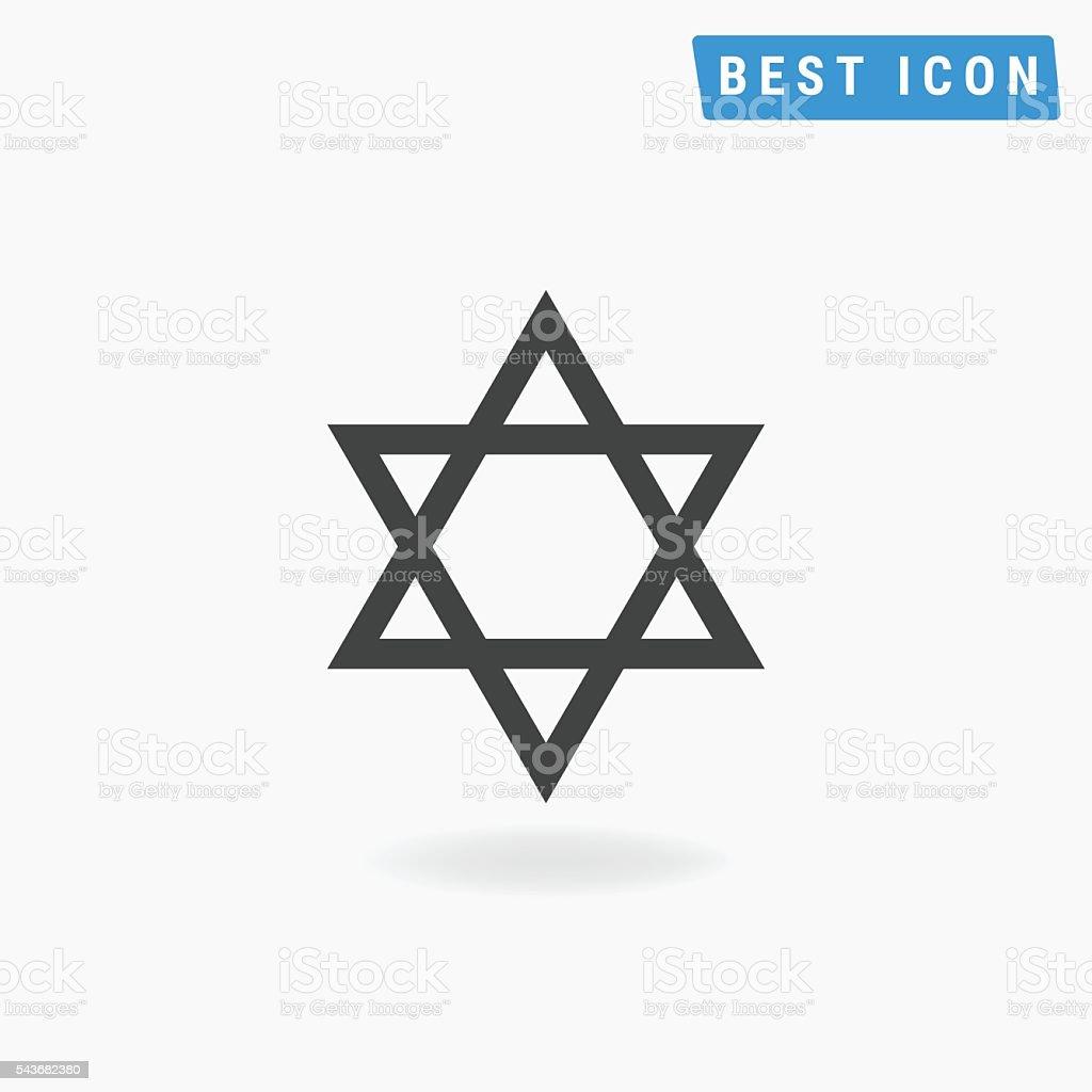 Star of David Icon, Star of David Vector eps10. vector art illustration