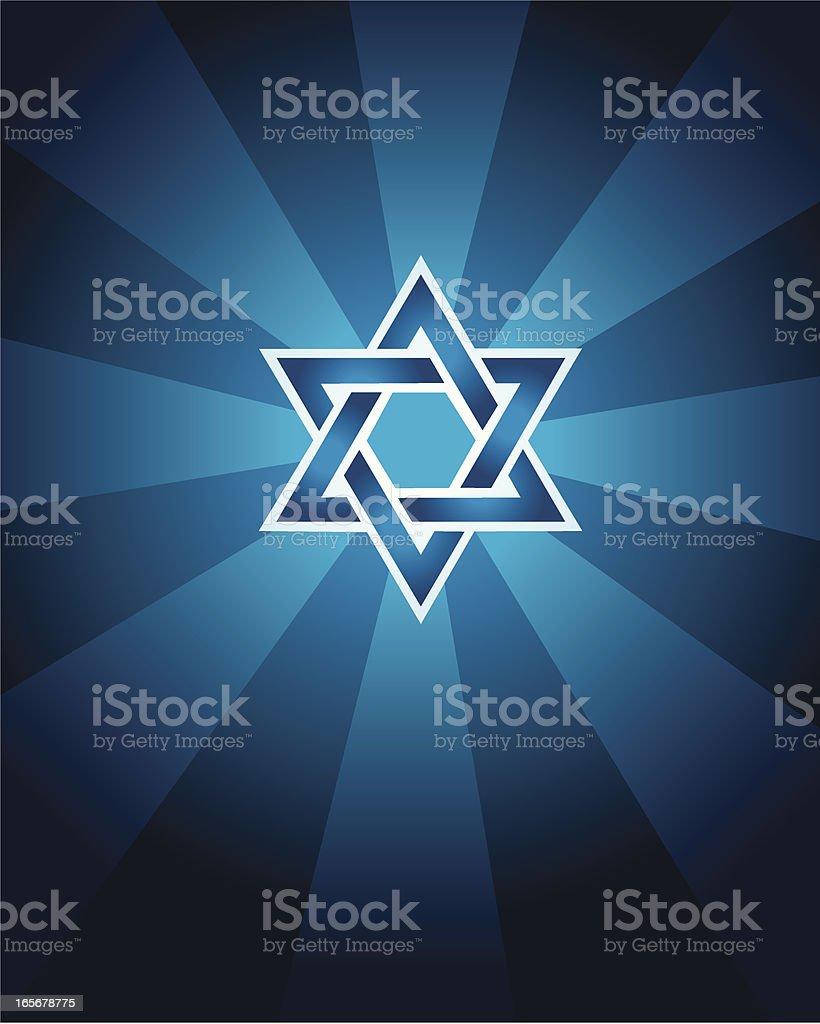 Star of David - Jewish Faith Background vector art illustration