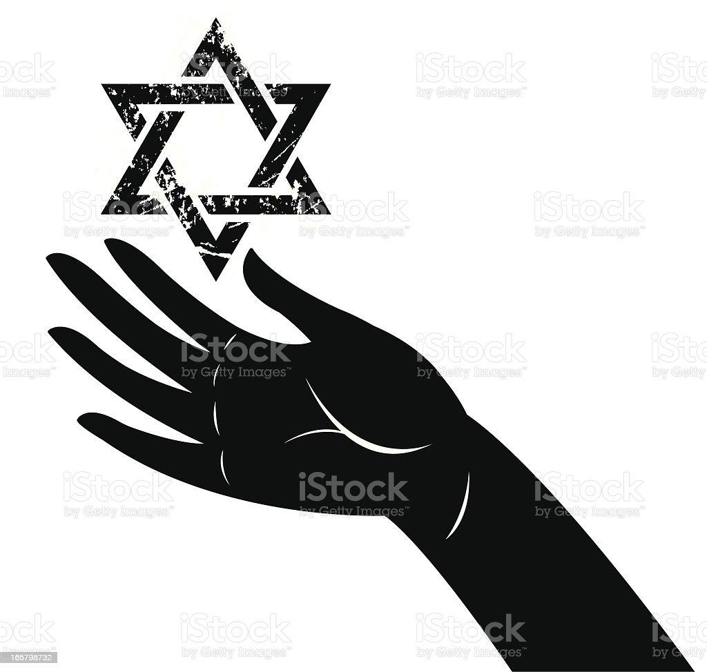 Star of David, Jewish Faith vector art illustration