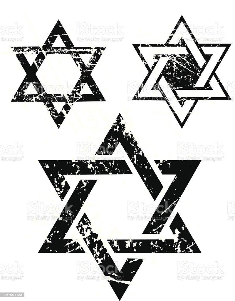 Star of David - Judaism Religion vector art illustration