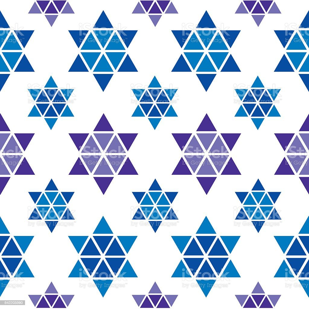 Star Of David Pattern vector art illustration