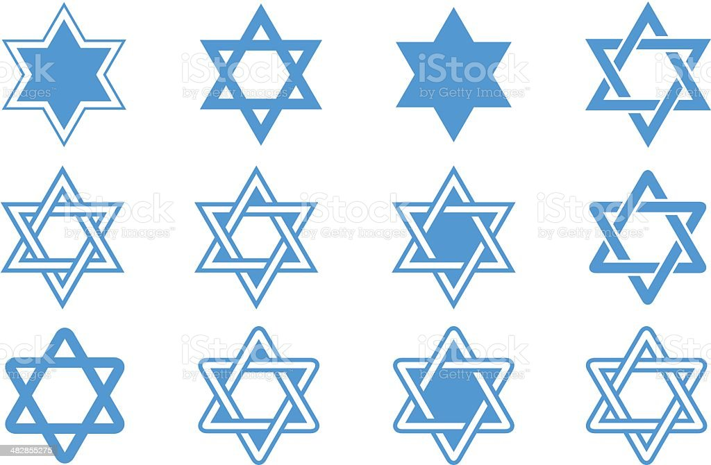 Star of david vector art illustration