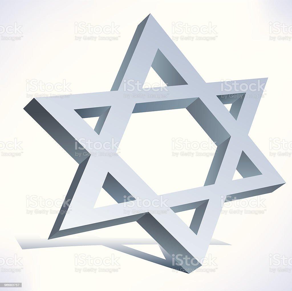 Star of David vector art illustration