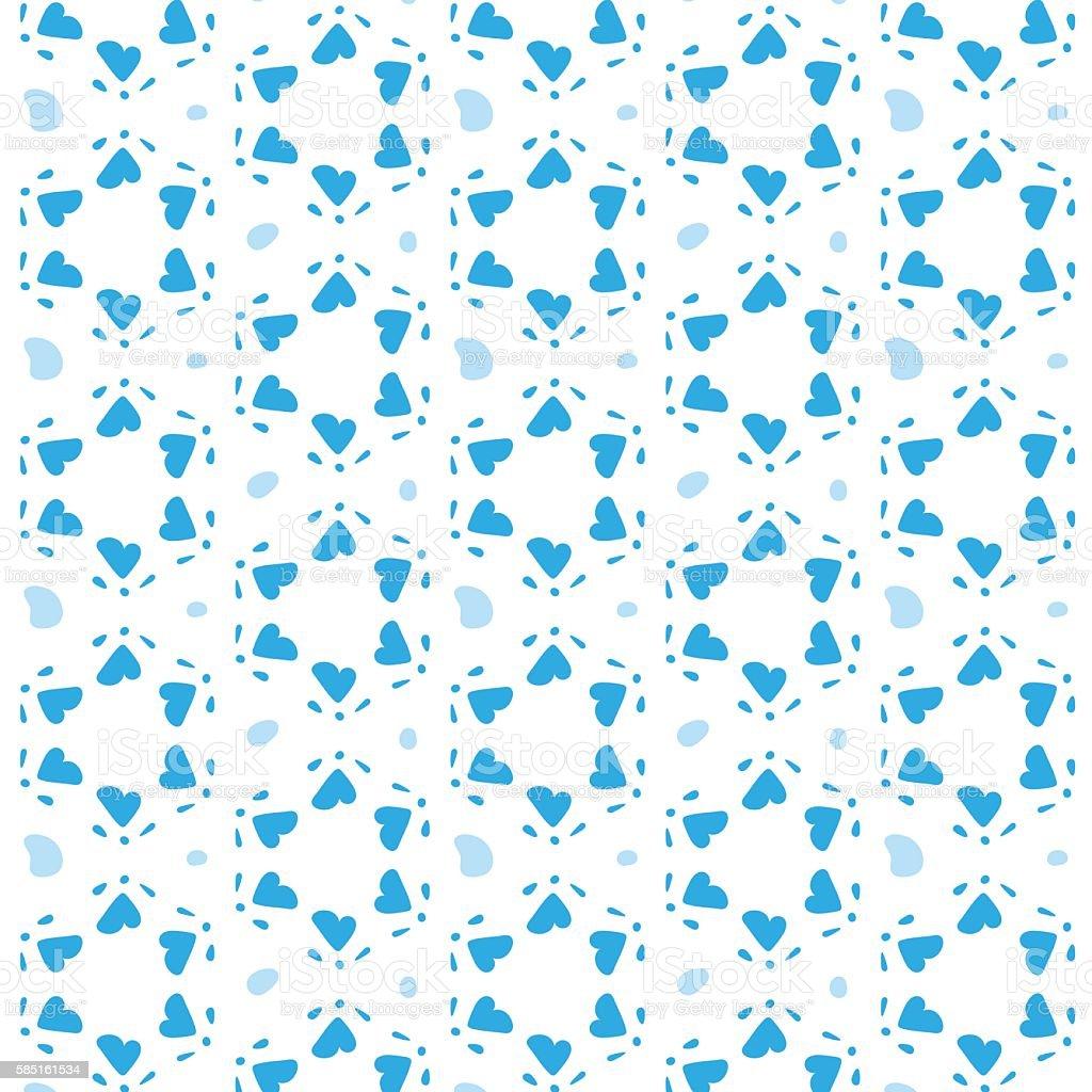 Star of David Vector Seamless Pattern vector art illustration