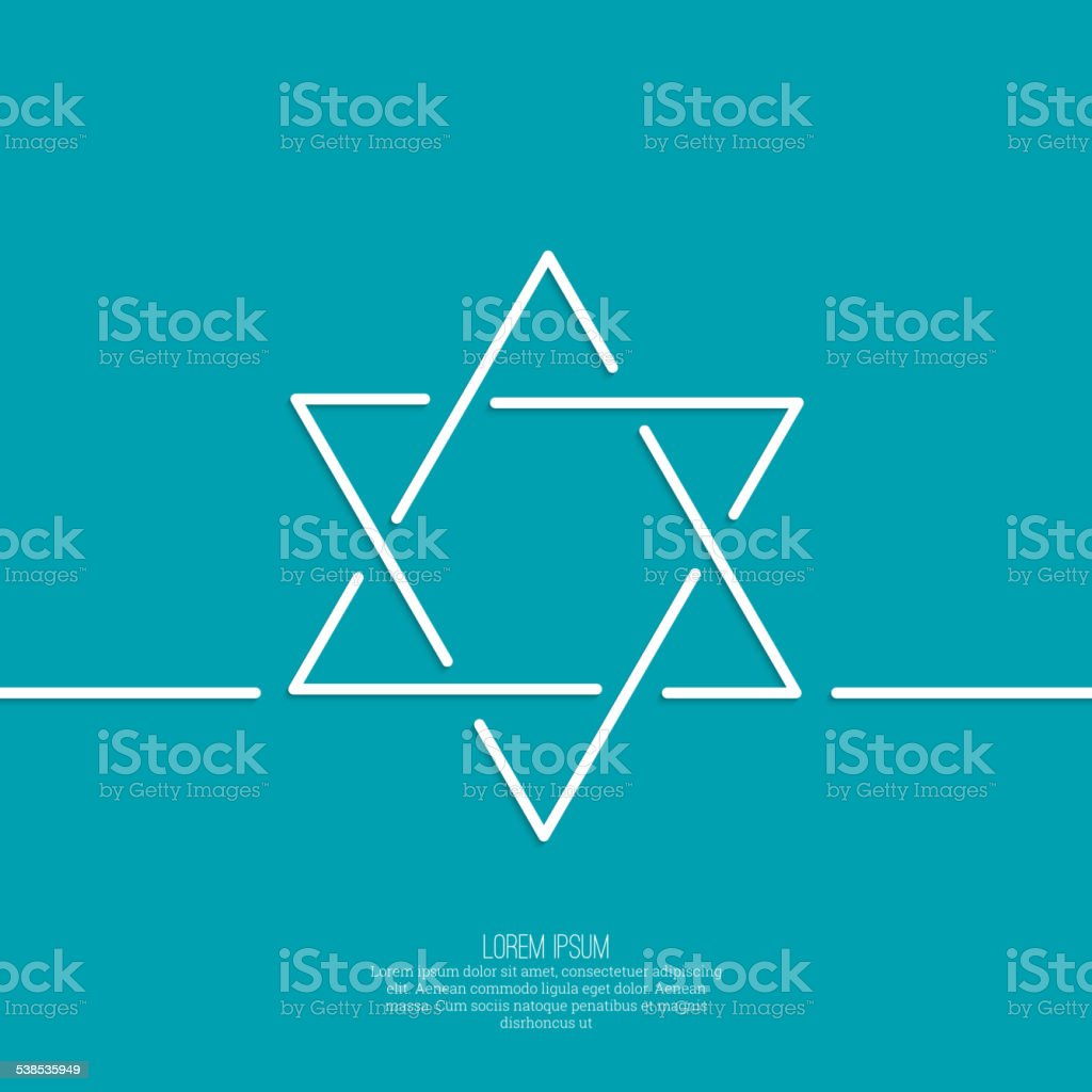 Star of david. Vector vector art illustration