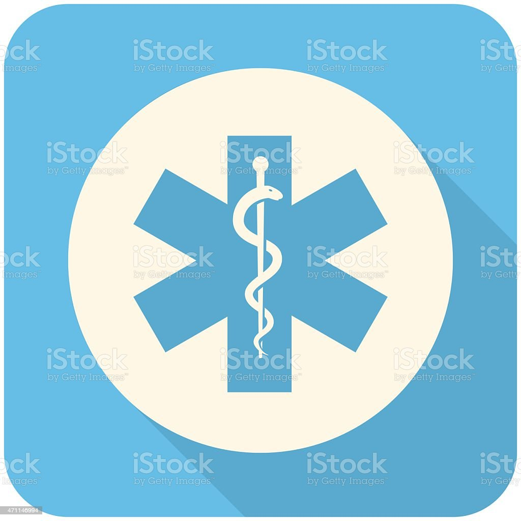 Star of Life icon vector art illustration