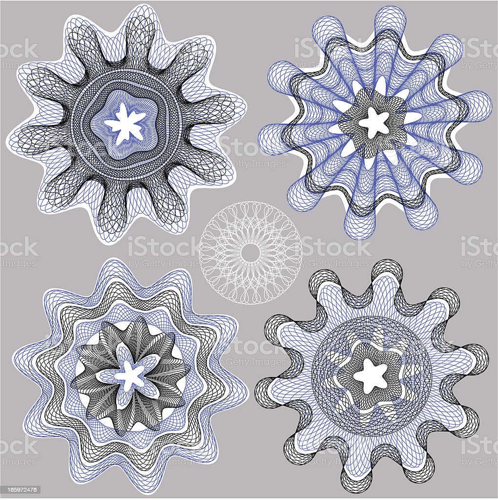Star Ornament for blank Diploma or Certificate royalty-free stock vector art