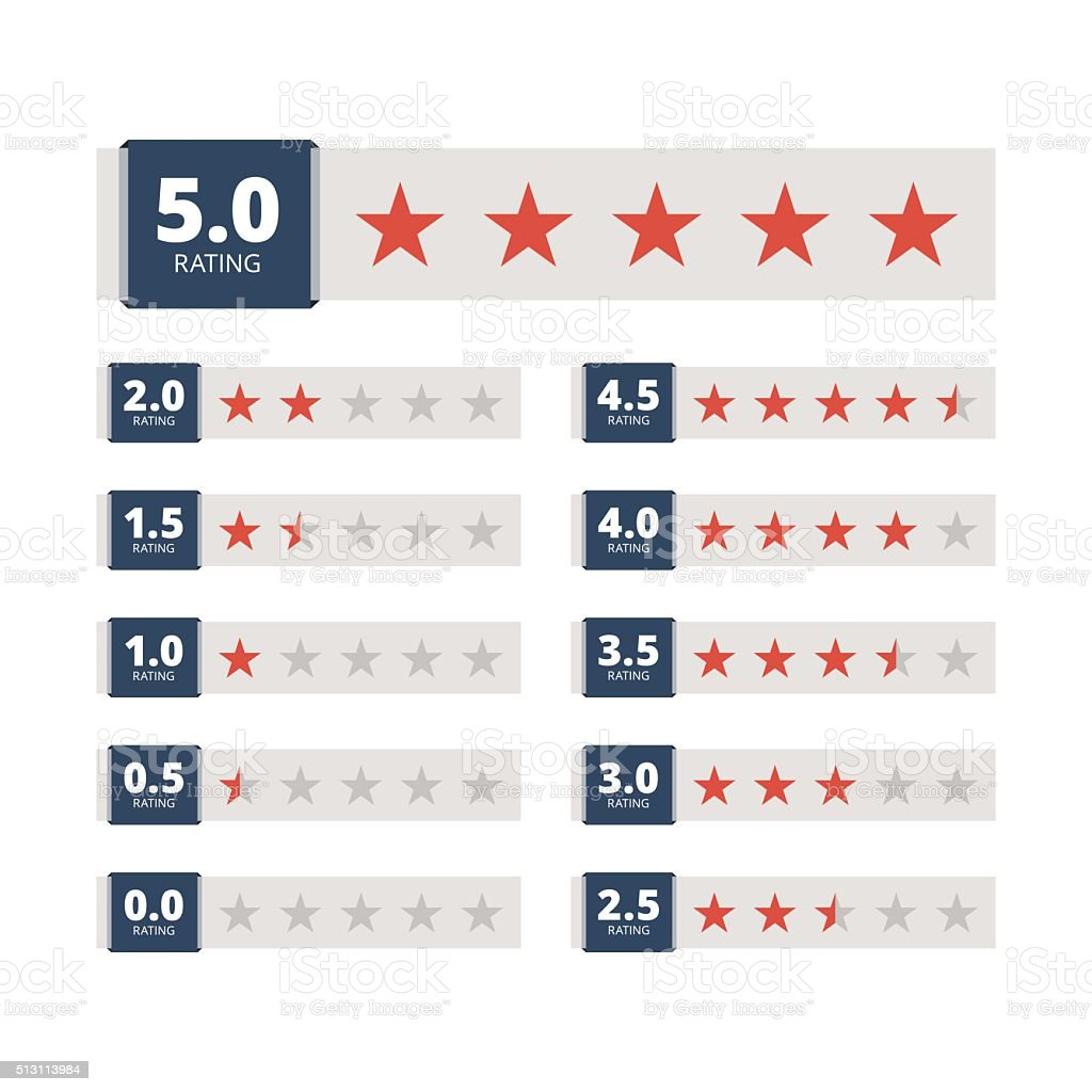 Star rating badges. vector art illustration