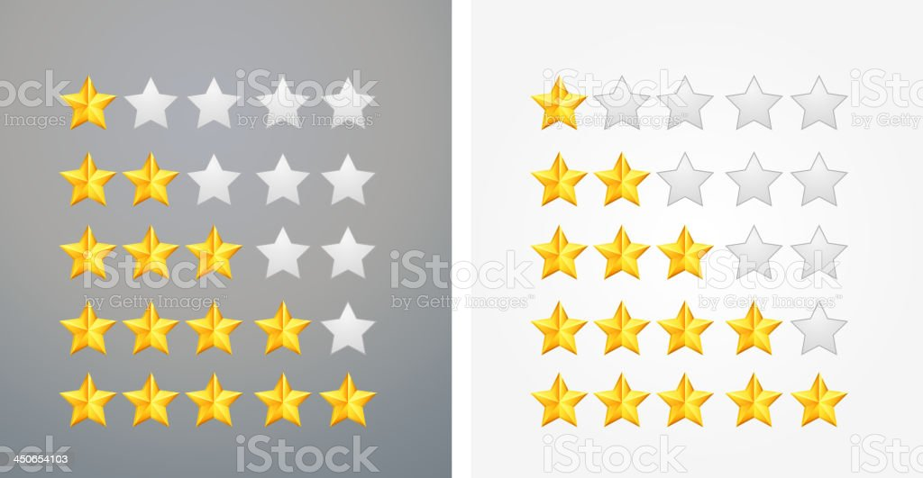 Star Rating Icon royalty-free stock vector art