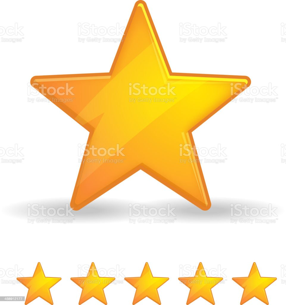 Star Rating vector art illustration