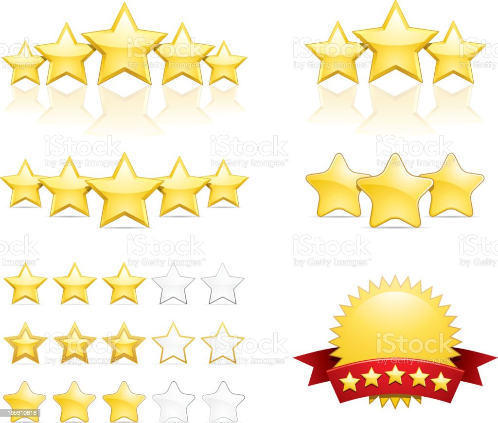 Star ratings vector art illustration