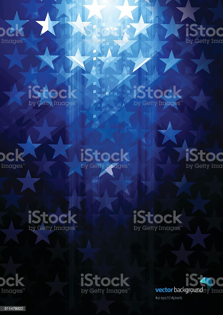 Star shape abstract background vector art illustration
