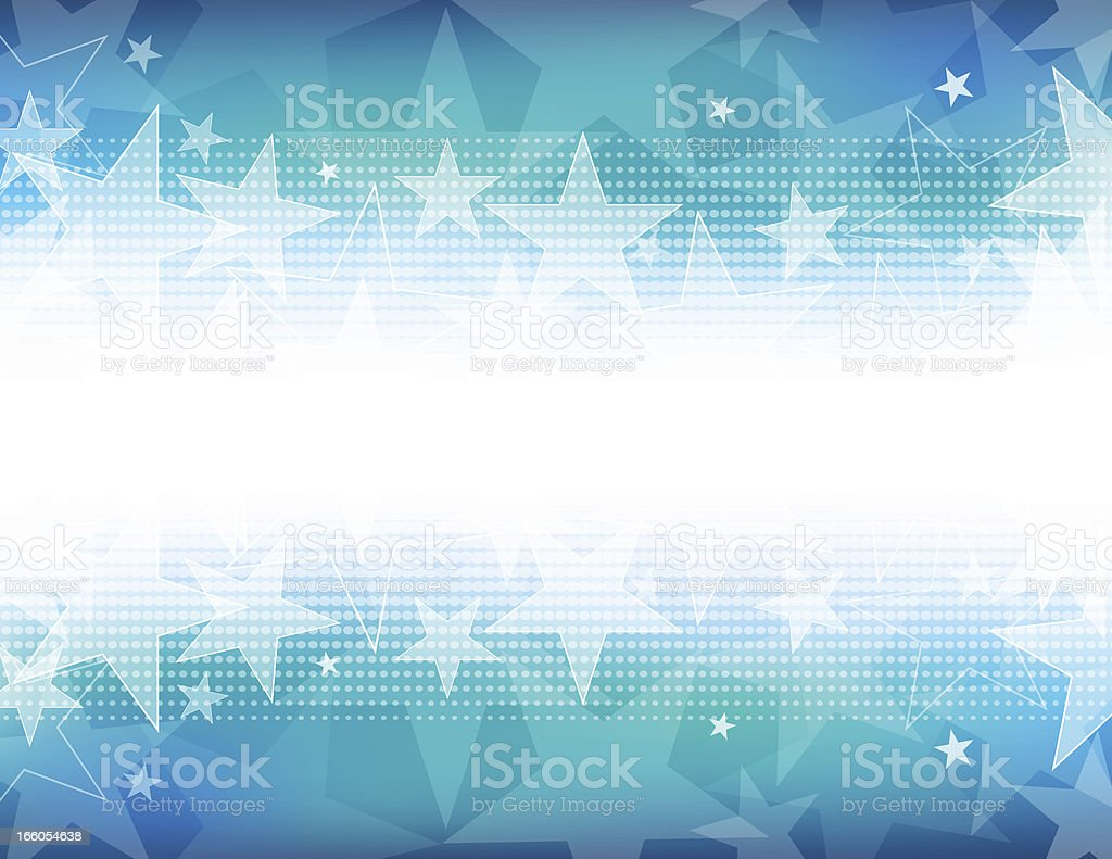 Star shape background with white out on the center horizon vector art illustration