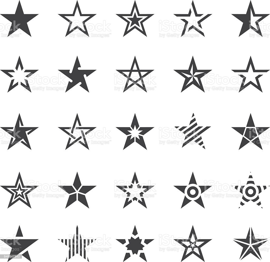 Star Shape Icons - Illustration vector art illustration