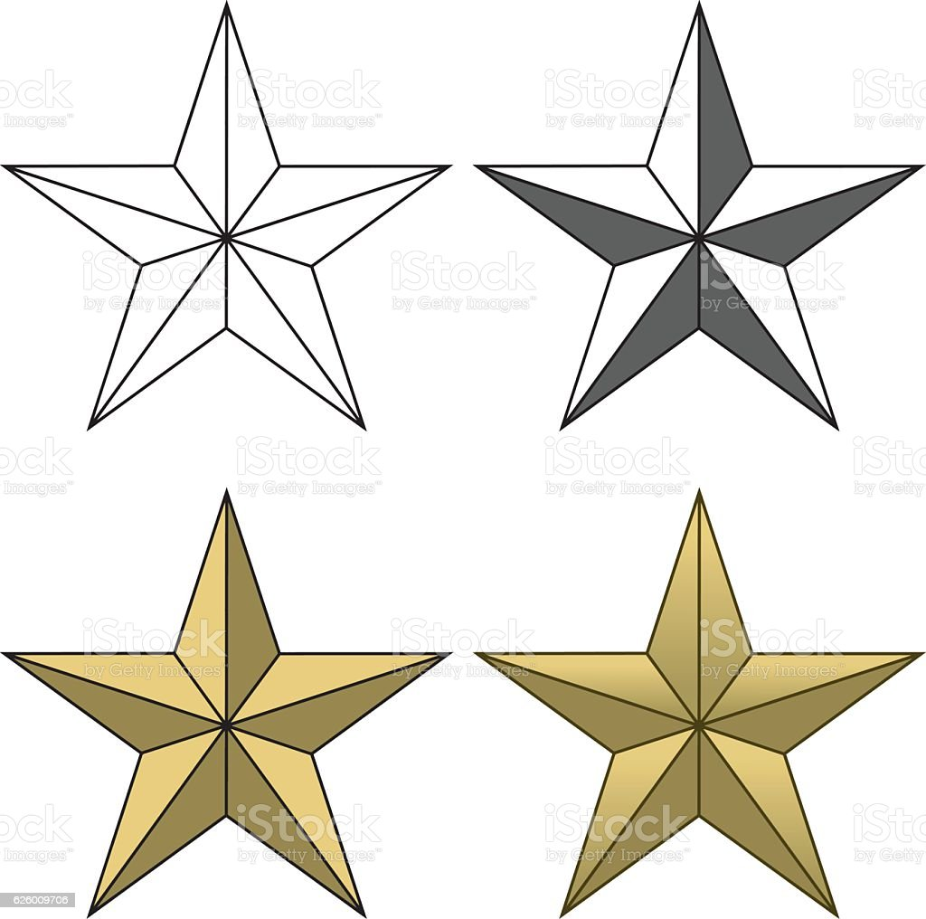 Star Shape vector art illustration