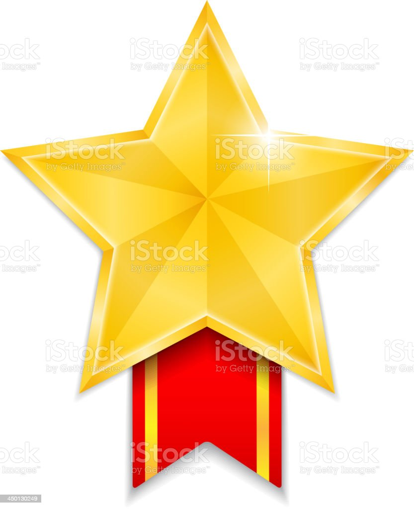 Star Shaped Medal royalty-free stock vector art