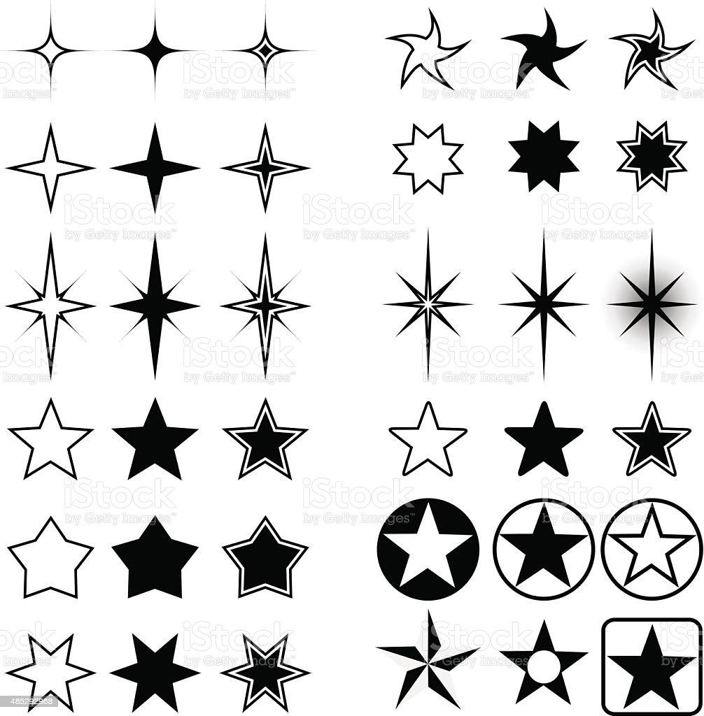 Star shapes vector art illustration