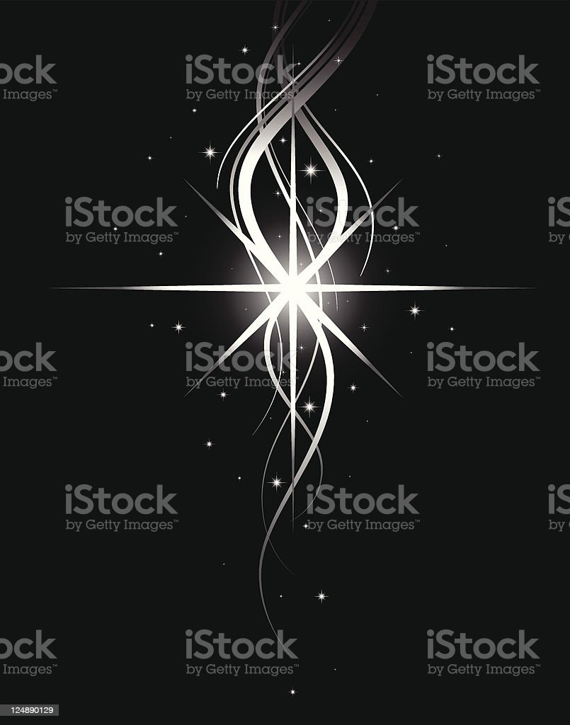 Star Shine Vector Background vector art illustration