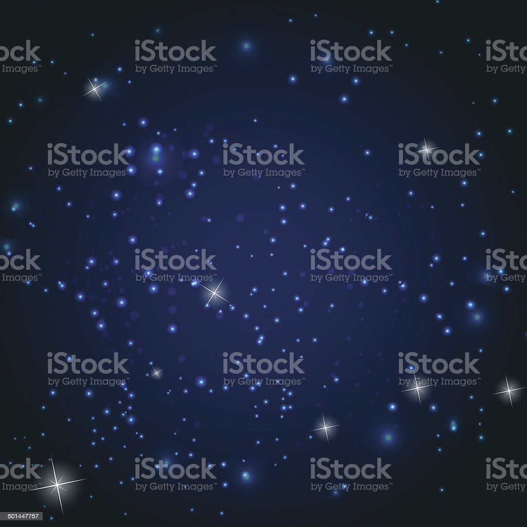 Star Sky Vector Illustration Background royalty-free stock vector art