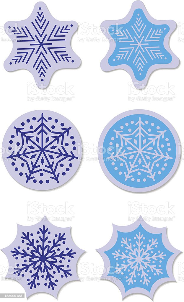 star snow sticker royalty-free stock vector art