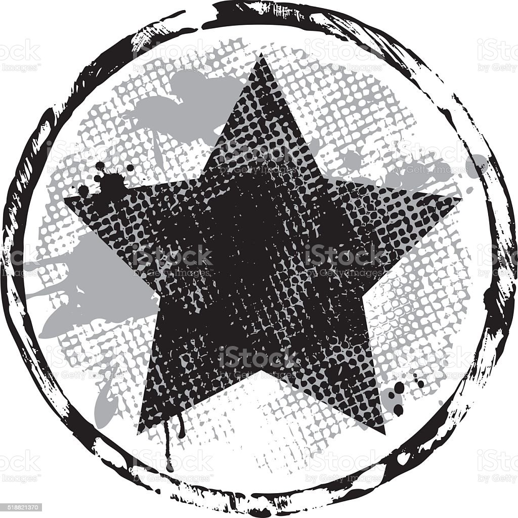 Star Stamp vector art illustration
