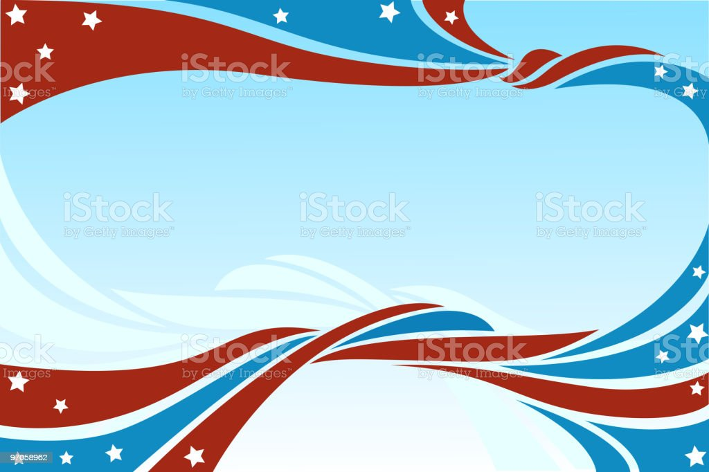 Star Stripes Background royalty-free stock vector art
