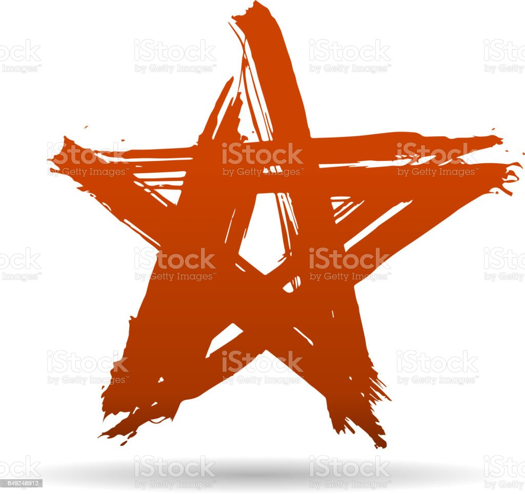 star stroke vector art illustration