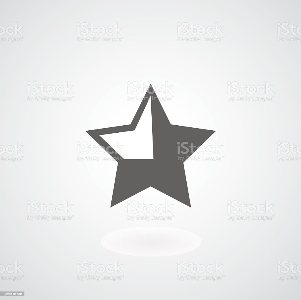 star symbol vector art illustration