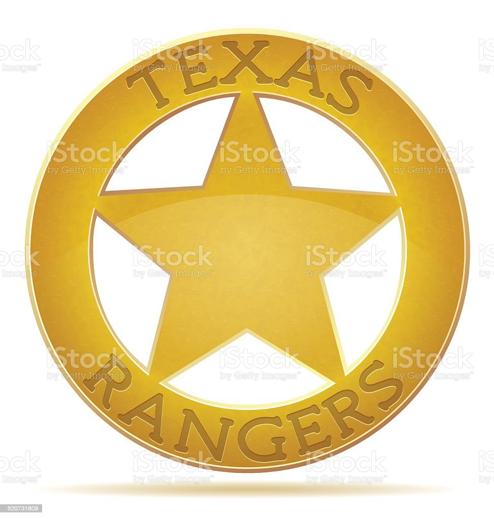 star texas ranger vector illustration vector art illustration