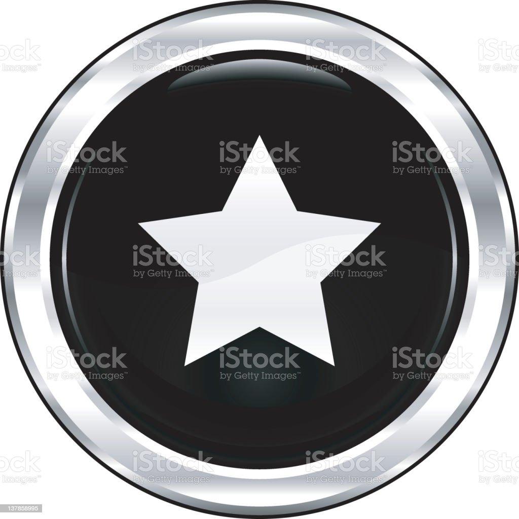 Star | The Blackest Icon Series royalty-free stock vector art