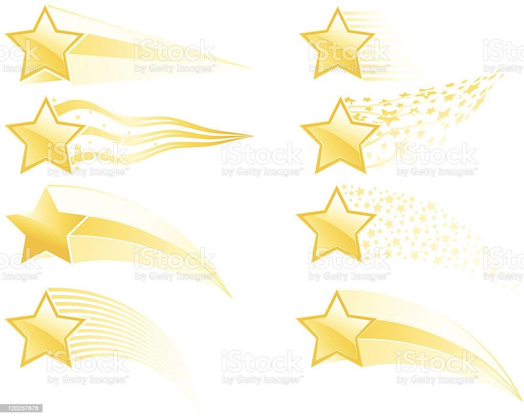 Star tracks vector art illustration