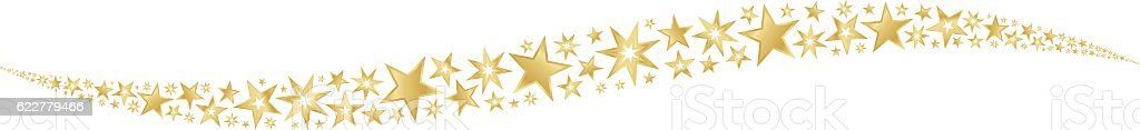 star trail gold vector art illustration