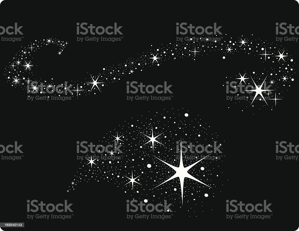 star trails vector art illustration