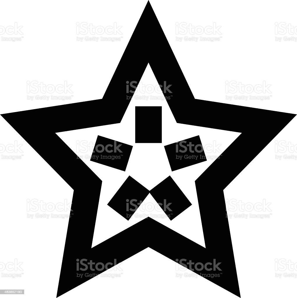 Star Vector Icon vector art illustration