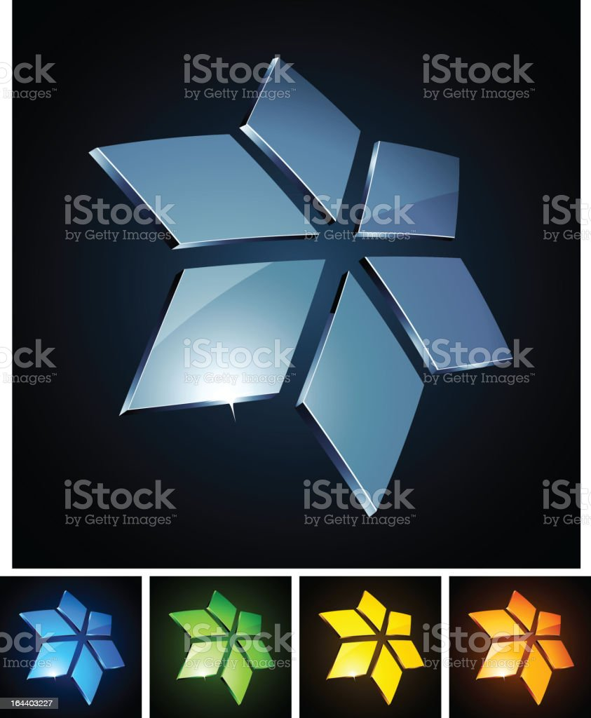 Star vibrant emblems. royalty-free stock vector art