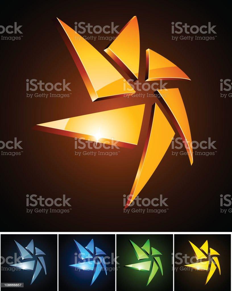 Star vibrant signs. royalty-free stock vector art