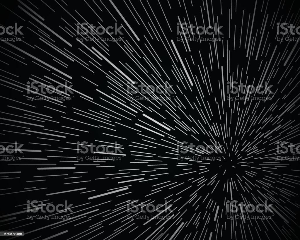 Star Warp Space Background vector art illustration