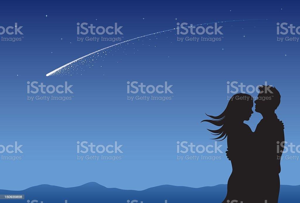 Star Wish vector art illustration