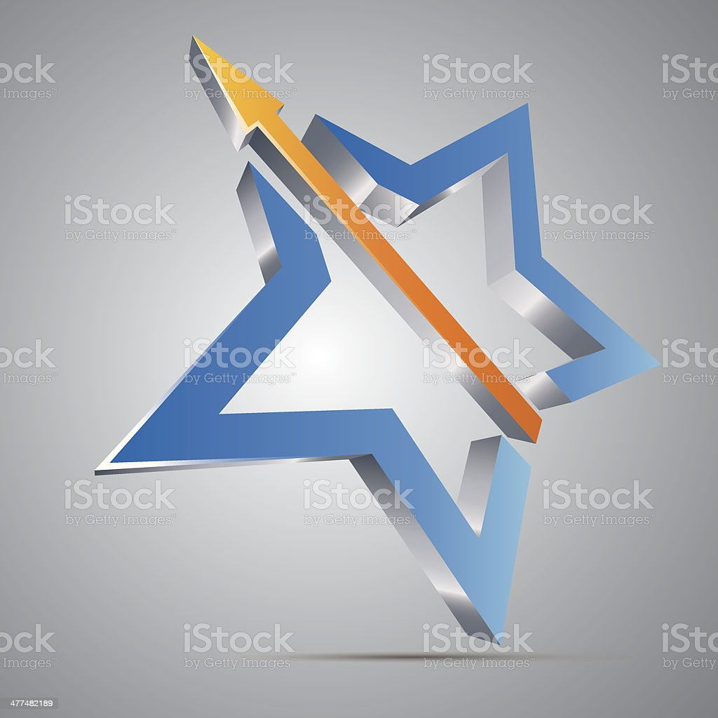Star With Arrow royalty-free stock vector art