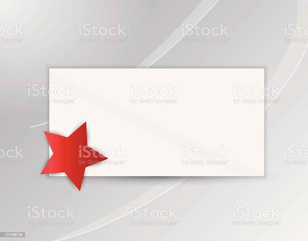 star with blank paper vector art illustration