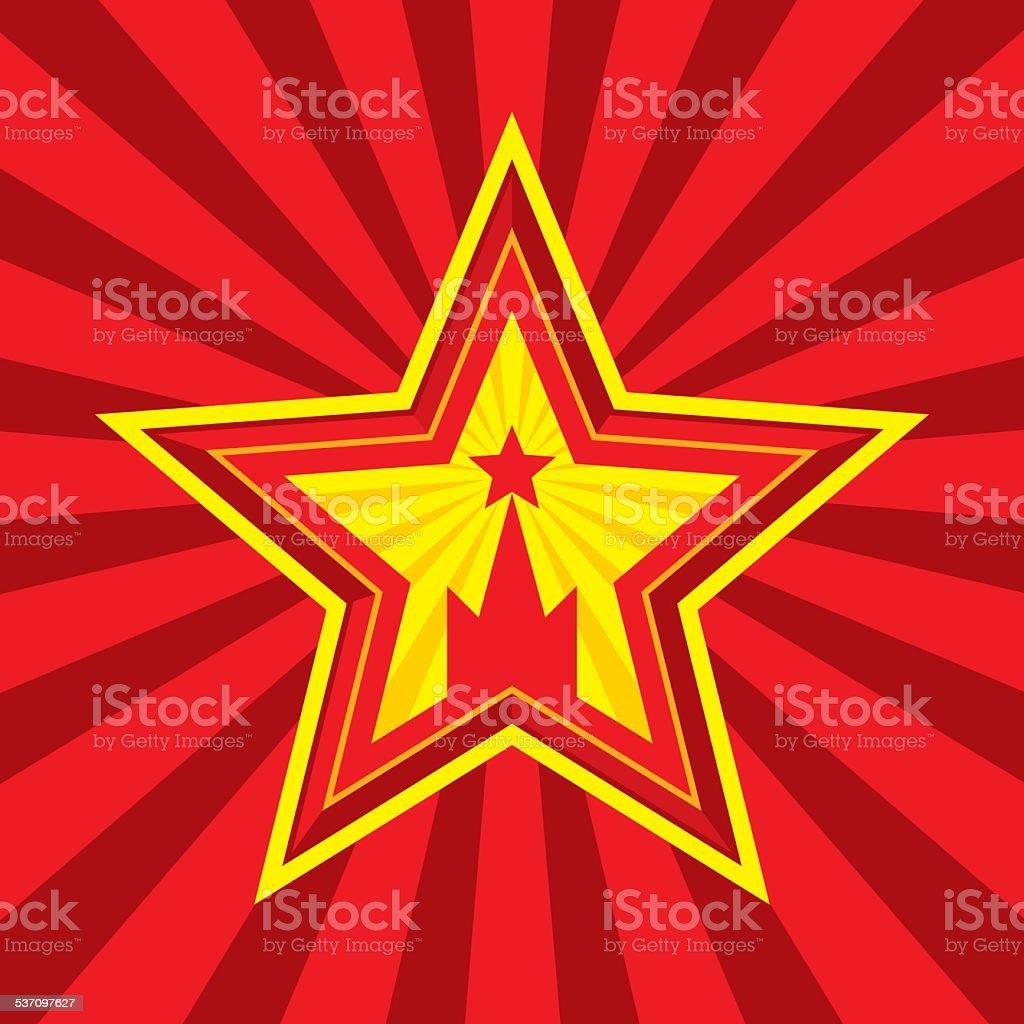 Star with Kremlin symbol - vector concept illustration. vector art illustration