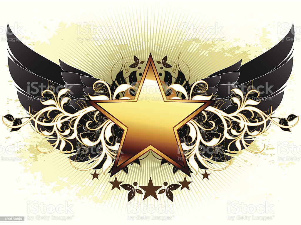 star with ornate elements royalty-free stock vector art